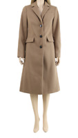 Dorothy Perkins Fitted Longline Camel Trench Coat Winter Jacket UK 6 to 20 NEW
