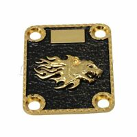 Hand Engraved Special Pattern Metal Neck Plate Fits Electric Guitar Part