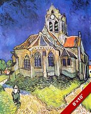 CHURCH DIE VON KIRCHE AUVERS VINCENT VAN GOGH PAINTING ART REAL CANVAS PRINT