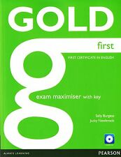 Pearson GOLD FIRST CERTIFICATE IN ENGLISH FCE Exam Maximiser w Key +AUDIO CD New