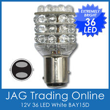 12V 36 LED BAY15D 1157 STOP/TAIL LIGHT - WHITE GLOBE *