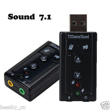 New USB 2.0 Full-Speed 7.1 Channel Audio Device Sound Card Adapter For Laptop PC