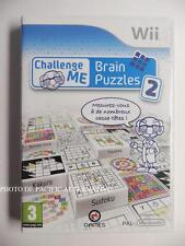 Jeu CHALLENGE ME BRAIN PUZZLES 2 sur nintendo WII en francais QI reflexion PAL