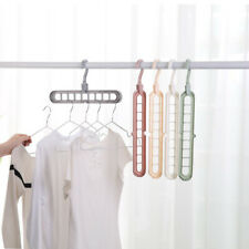 Rotate Anti-skid Folding Hanger Magic Hook Hanger Clothes Rack Storage 9-Holes