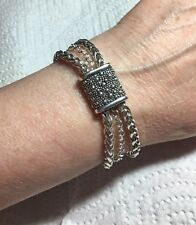 Michael Dawkins Starry Night Sterling Silver Chain Bracelet, Size 6 3/4 Inches