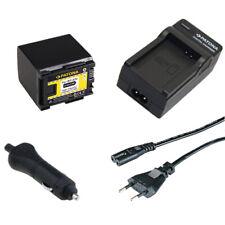 Batteria Patona + caricabatteria casa/auto per Canon LEGRIA HF G10,HF G25,HF G26