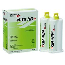ELITE HD+ LIGHT BODY FAST SET ZHERMACK 2 X 50ML. DENTAL SILICONE SILICONA.