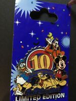 White Glove Disney Pin Trading 10th Anniversary LIMITED EDITION 750 Pin 72362