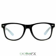 GloFX Spiral Diffraction Glasses Black High Quality Craftsmanship Lightshow Rave