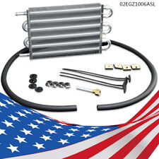 6 Row Radiator Remote Aluminum Transmission Oil Cooler & Mounting Kit New