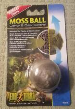 Exo Terra Moss Ball Clarity and Odor Control Treat 10 - 20 Gallon Terrariums