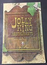 Vtg Restaurant Menu Jolly King Royal Inn Ensenada Baja Mexico Mexican + extras