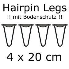 4 x 20 cm hairpin Legs con!!! protección del suelo!!! mesa piernas tischkufen mesa de comedor DIY