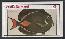 GB Locals - Staffa 3513 - 1982  FISH imperf souvenir sheet unmounted mint