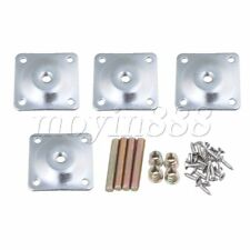 4 x Furniture Leg Mounting Plates Industrial Strength for Table Bed Legs