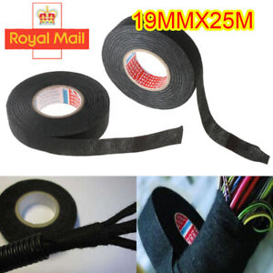 25M Wiring Loom Tape Adhesive Cloth Fabric Harness Insulation Electric Tape