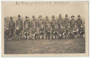 1918 WWI era Military REAL PHOTO - 1st Telegraph Company - Vintage Postcard