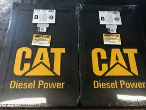 Diesel Power Plus Cat Mud Flaps Guards 9x15 Rubber Set of 2 mudflaps Caterpillar
