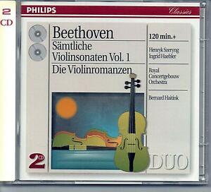 2 CDs Beethoven SÄMTLICHE VIOLINSONATEN VOL. 1 Szeryng Haebler Haitink (CD 530)