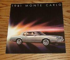 Original 1981 Chevrolet Monte Carlo Sales Brochure 81 Chevy