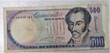New listing Venezuela Paper Money * 500 Bolivares * Bolivar