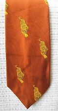 "Men's Vintage Tiger Tie, Village Squire By Bill Miller, Wide 4.5"", Brown"