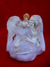 "Pottery Barn Christmas Lighted 10"" Fiber Optic Angel Light Table Lamp Figurine"