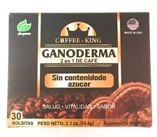 Classic Brazilian Style Black Coffee King 2 in 1 Ganoderma Coffee 30 Sachets