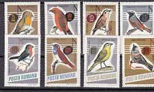 a122 - ROMANIA - SG3369-3376 MNH 1966 SONG BIRDS