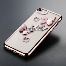 Glossy Silicone Shockproof Butterfly Soft Case Cover For iPhone 7 Plus 6 8+ X