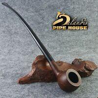 "Smooth BRIAR wood TOBACCO - smoking pipe LONG "" OLD ARCHER "" LOTR Churchwarden"