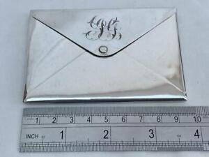 Superb Sterling Silver English Envelope Form Card Case By Adie & Lovekin 1904.
