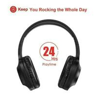 With Hi-Fi Stereo 24 Hours Playtime Bluetooth Headphones New Ear O D8K4 Wir Y2Q4