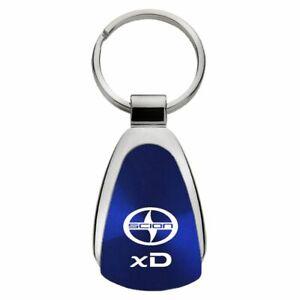 Scion xD Key Ring Blue Teardrop Keychain