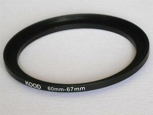 STEP UP ADAPTER 60MM-67MM STEPPING RING 60MM TO 67MM 60-67 FILTER ADAPTER