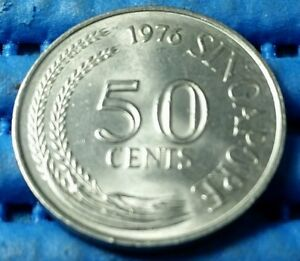 1976 Singapore 50 Cents Lion Fish Coin