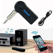 Wireless Bluetooth 3.5mm AUX Audio Stereo Music Home Car Receiver Adapter + Mic