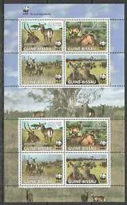 NW0444 2008 GUINEA-BISSAU WWF WATERBUCKS WILD ANIMALS FAUNA #3919-3922 KB SALE