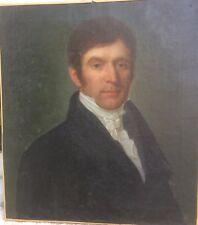 Portrait d'un beau gentilhomme (époque Restauration vers 1820) Huile sur toile