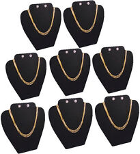 "8Pc SET 8""H NECKLACE EARRING PENDANT EARRING BLACK JEWELRY DISPLAY CASE PJ14B8"