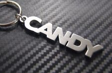 CANDY Personalised Name Keyring Keychain Key Fob Bespoke Stainless Steel Gift
