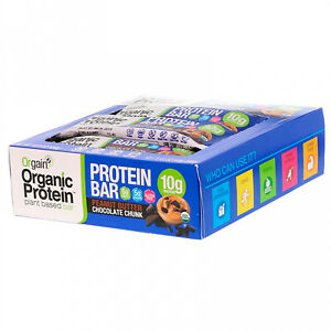 Orgain, Organic Plant-Based Protein Bar, Peanut Butter Chocolate Chunk, 12 1.41