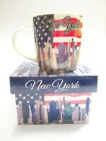 New York Porzellan Kaffeetasse incl.Gift Box Collage WTC Neu Coffee Mug