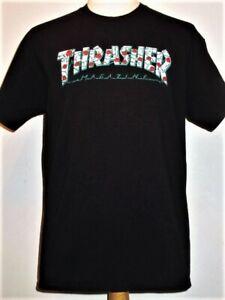 Rose Logo THRASHER Skateboard Magazine T-shirt, L