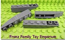 New LEGO Inverted Slopes Lot of 4 Dark Bluish Gray 6x1 Curved Brick Part Pieces