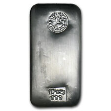 10 oz Perth Mint Silver Bar - Cast Silver Bar - SKU #59484