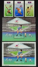 2002 Malaysia Hockey World Cup, 3v Stamps (POS tabs) + 2MS (perf & imperf) Mint