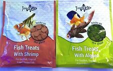 2x FISHSCIENCE FISH TREATS STICK ON GLASS TABLETS ALGAE SHRIMP GARLIC SCIENCE