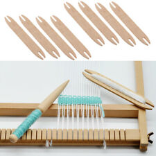 8X Wooden Weaving Shuttle Sticks Wood Rod Handloom Sweater Supply Hand Tools