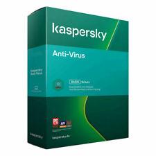 Kaspersky Antivirus 3 PC 1 ANNO  2020 2021 FATTURABILE